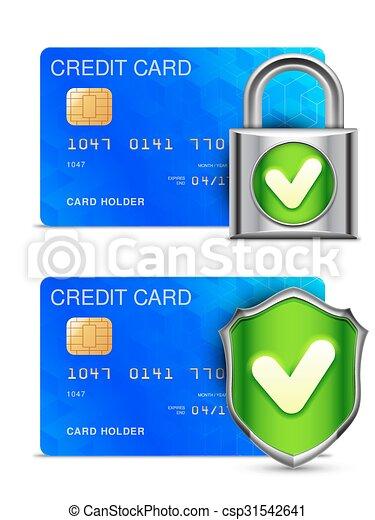 クレジット, セキュリティー, カード - csp31542641