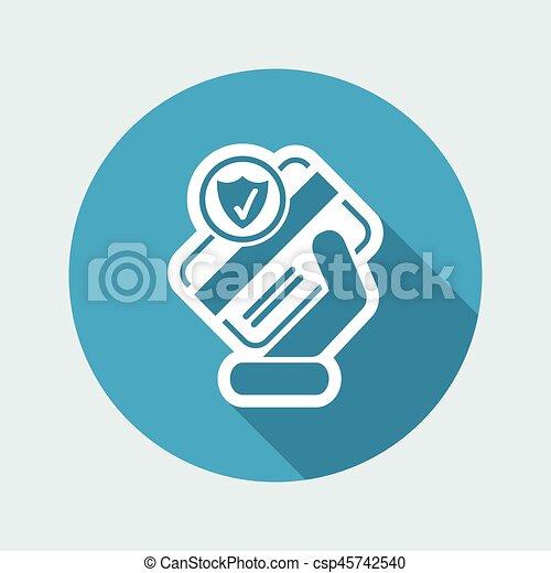 クレジット, セキュリティー, カード - csp45742540