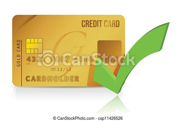 クレジット, チェックカード, 印 - csp11426526