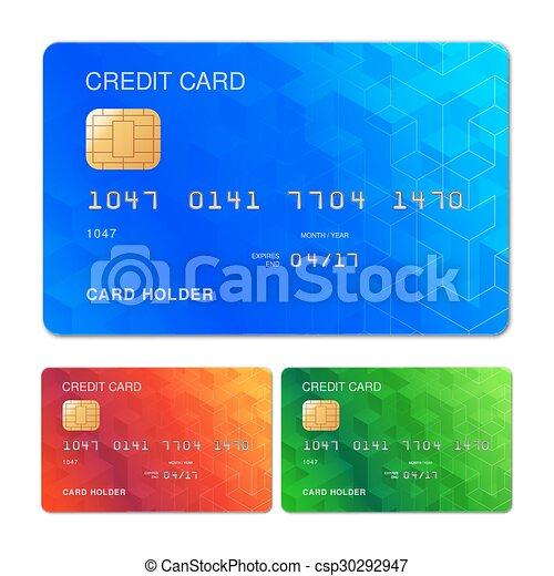 クレジット, デザイン, カード - csp30292947