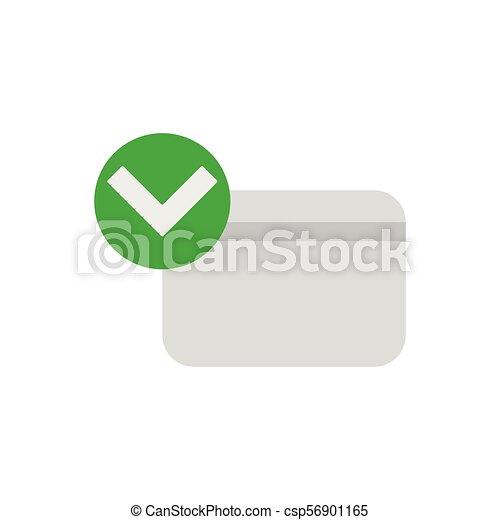 クレジット, 公認, カード, アイコン - csp56901165