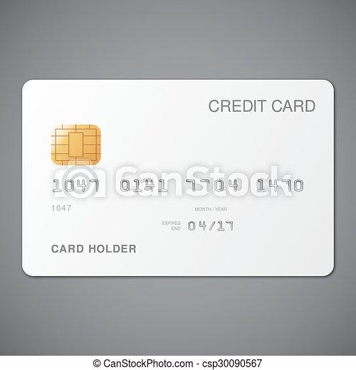 クレジット, 白, カード - csp30090567