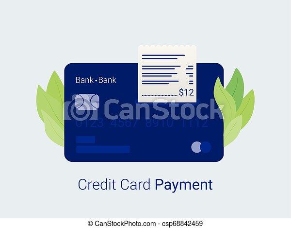 クレジット, card., 支払い - csp68842459