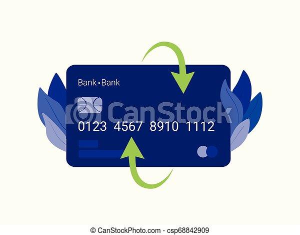 クレジット, card., 支払い - csp68842909