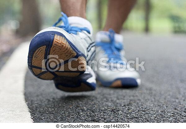 クローズアップ, スポーツ, ランニングシューズ - csp14420574