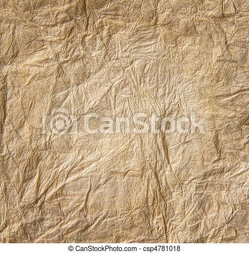 クローズアップ, ペーパー, 古い, 羊皮紙 - csp4781018
