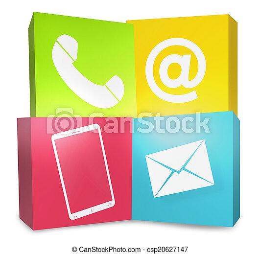 グラフィック, アイコン, 色, 私達, 創造的, 連絡 - csp20627147
