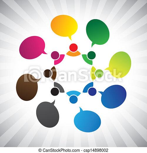 グラフィック, ネットワーク, 人々, chatting-, 話し, ベクトル, 社会, ∥あるいは∥ - csp14898002