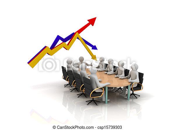 グラフ, ミーティング, ビジネス - csp15739303