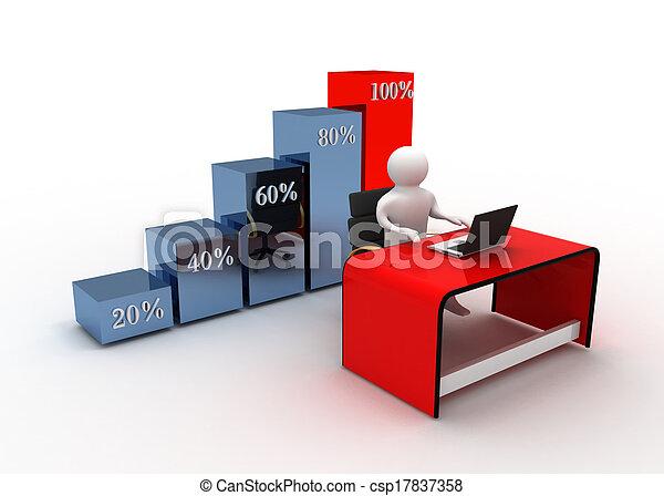 グラフ, 概念, ビジネス - csp17837358