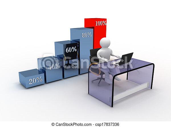グラフ, 概念, ビジネス - csp17837336