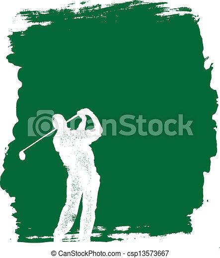 グランジ, ゴルフ, 背景 - csp13573667