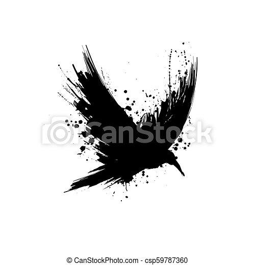 グランジ, シルエット, ワタリガラス - csp59787360