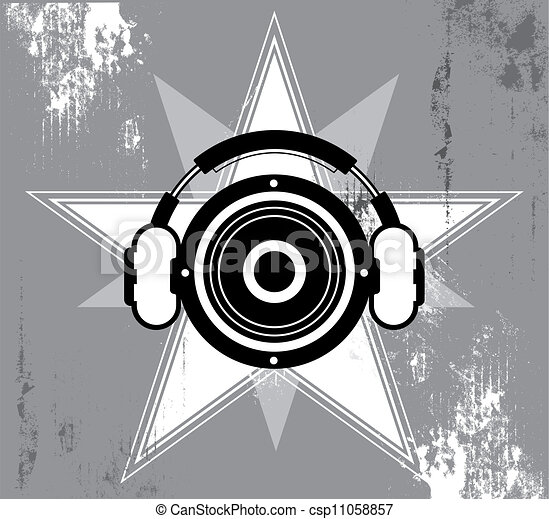 グランジ, デザイン, 音楽, 星 - csp11058857