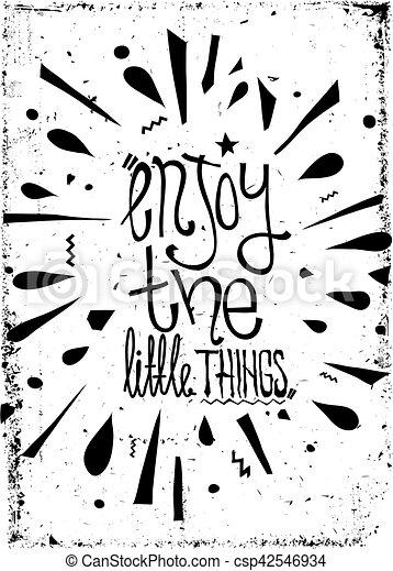 グランジ, ポスター, 単純である, 型, 動機づけである, 効果, doodles - csp42546934