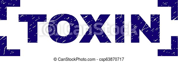 グランジ, 切手, コーナー, 中, シール, 毒素, textured - csp63870717