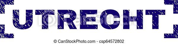 グランジ, 切手, コーナー, 中, シール, utrecht, textured - csp64572802