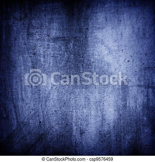 グランジ, 手ざわり, 青い背景, 壁 - csp9576459