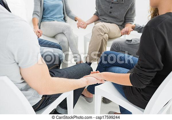グループ, セッション, 療法, モデル - csp17599244