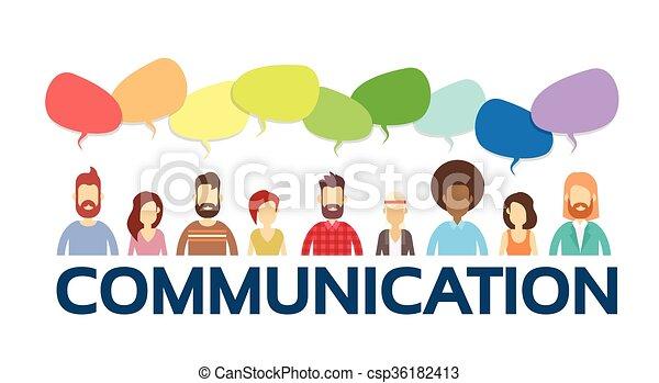 グループ, ネットワーク, 人々, コミュニケーション, チャット, 社会, 泡, 偶然 - csp36182413