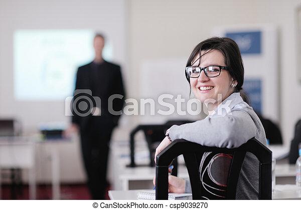 グループ, ビジネス セミナー, 人々 - csp9039270