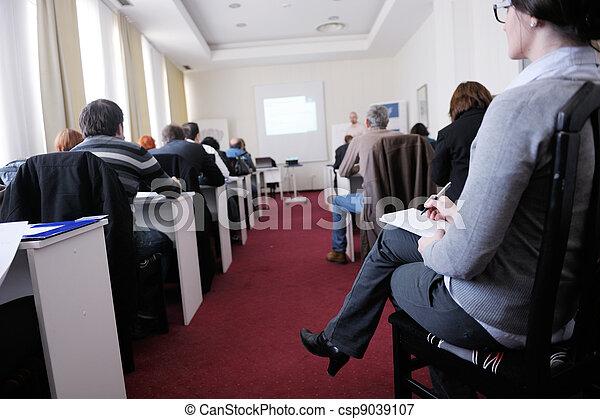 グループ, ビジネス セミナー, 人々 - csp9039107