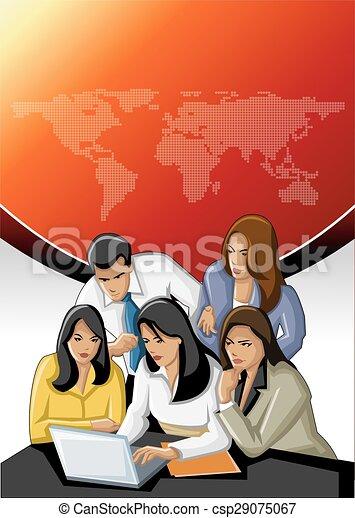 グループ, ビジネス 人々 - csp29075067