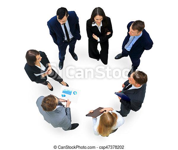 グループ, ビジネス 人々 - csp47378202