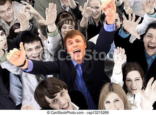グループ, ビジネス, 人々。, 大きい, 背景, 白, 上に - csp13215269
