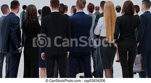 グループ, ビジネス, 人々。, 大きい, 背景, 白, 上に - csp53634206