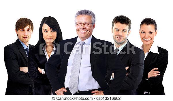 グループ, ビジネス, 人々。, 隔離された, 背景, 白, 上に - csp13216662