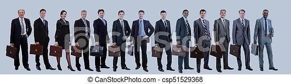グループ, ビジネス, 人々。, 隔離された, 背景, 白, 上に - csp51529368