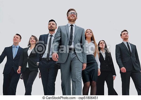 グループ, ビジネス, 人々。, 隔離された, 背景, 白, 上に - csp51806451