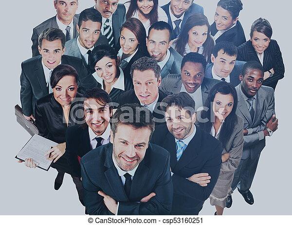 グループ, ビジネス, 人々。, 隔離された, 背景, 白, 上に - csp53160251