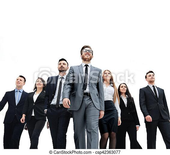 グループ, ビジネス, 人々。, 隔離された, 背景, 白, 上に - csp42363077