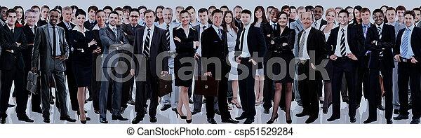 グループ, ビジネス, 人々。, 隔離された, 背景, 白, 上に - csp51529284