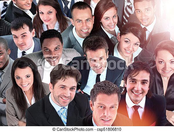 グループ, ビジネス, 人々。, 隔離された, 背景, 白, 上に - csp51806810