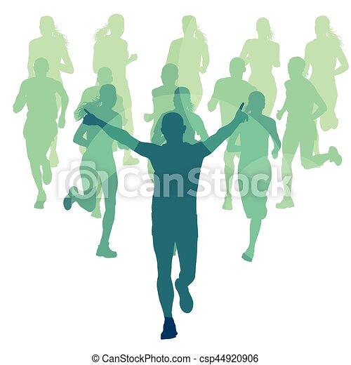 グループ 人々 イラスト 動くこと ベクトル マラソン グループ