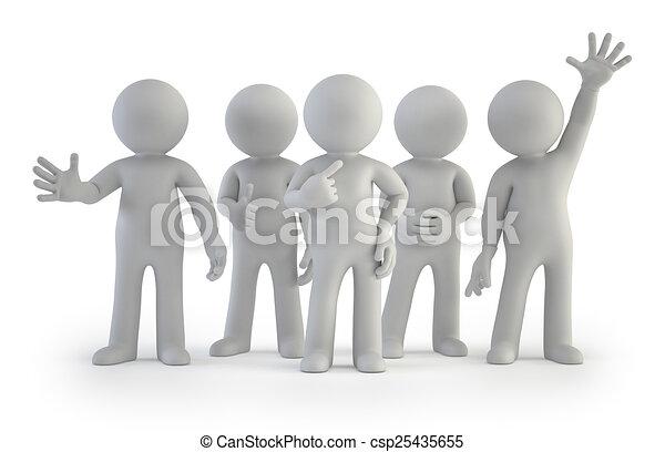 グループ, 人々, -, 小さい, 最も良く, 3d - csp25435655