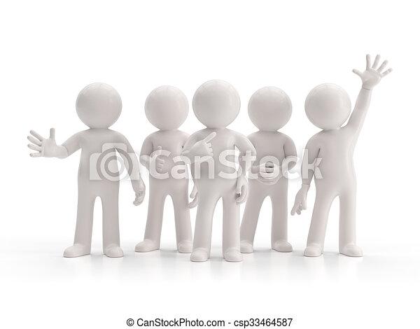 グループ, 人々, -, 小さい, 最も良く, 3d - csp33464587