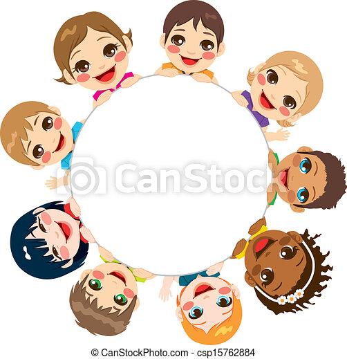グループ, 多民族, 子供 - csp15762884