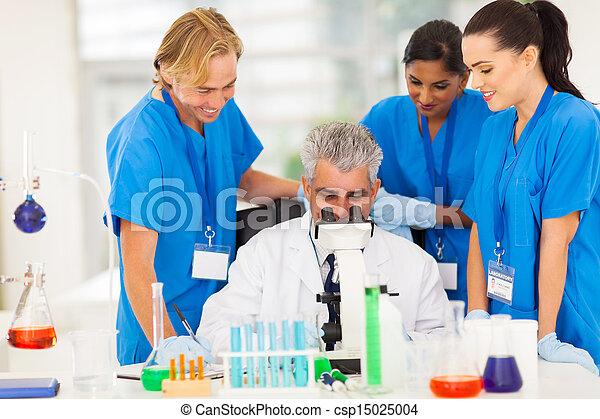 グループ, 実験室, 仕事, 科学者 - csp15025004