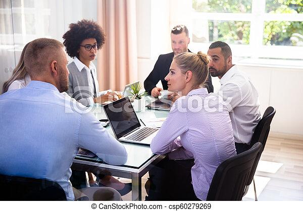 グループ, businesspeople, オフィス, モデル - csp60279269
