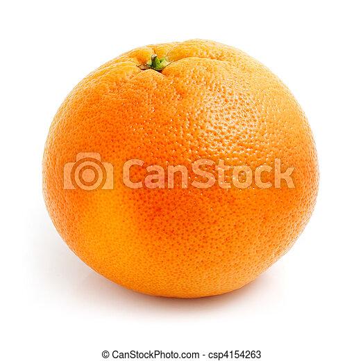 グレープフルーツ, 白, フルーツ, 隔離された, 新たに - csp4154263