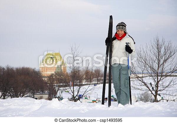 ケベック, スキー, 都市 - csp1493595