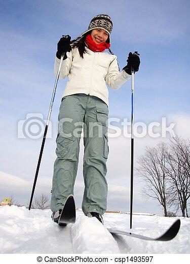 ケベック, スキー, 都市 - csp1493597