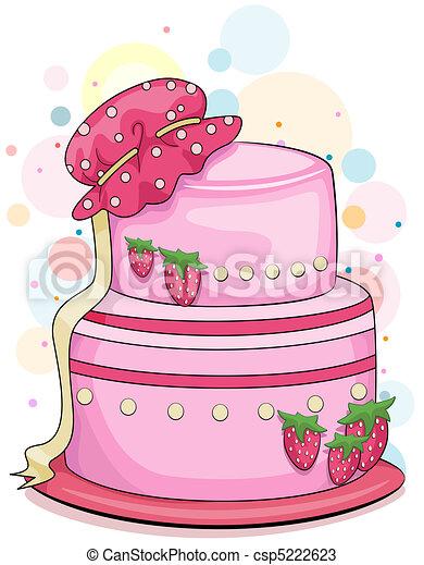 ケーキ いちご いちご 上 イラスト ボンネット ケーキ 赤ん坊