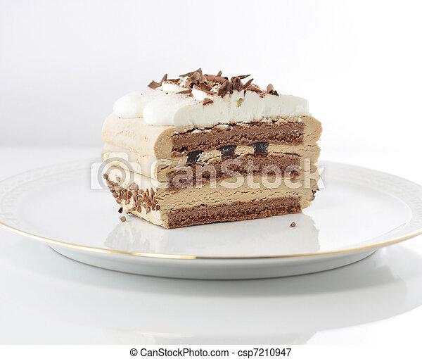 ケーキ, カプチーノ, クリーム - csp7210947