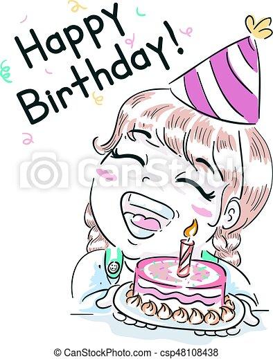 ケーキ 女の子 Birthday 子供 幸せ かわいい わずかしか 発言