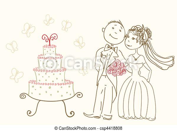 ケーキ, 結婚式 - csp4418808